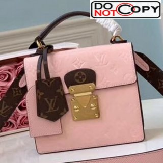 Louis Vuitton Spring Street Top Handle Bag in Red Vernis Leather M90468 Ligh Pink