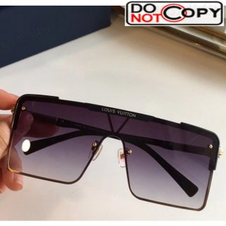 Louis Vuitton Square Sunglasses Z9808 Black