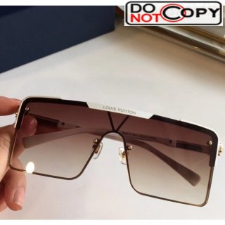 Louis Vuitton Square Sunglasses Z9808 Brown