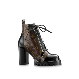 Louis Vuitton Star Trail Monogram Lace-up Ankle Short Boot 1A2Y7P