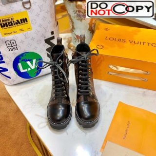 Louis Vuitton Star Trail Monogram Lace-up High-Heel Ankle Short Boot