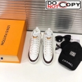 Louis Vuitton Stellar Monogram Embossed Leather High-top Sneakers White
