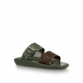 Louis Vuitton SUNBATH Flat Mules Sandals 1A66XD Kaki
