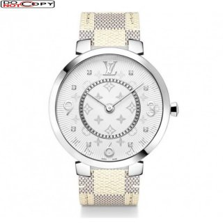 Louis Vuitton Tambour Quartz Watch White