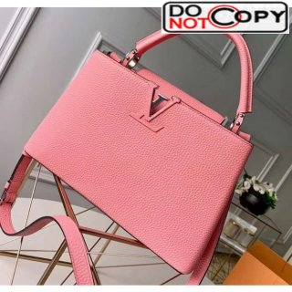 Louis Vuitton Taurillon Leather Capucines PM Top Handle Bag M42259 Pink Bag