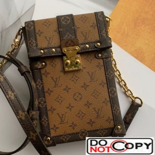 Louis Vuitton Trunk Vertical Chain Shoulder Bag Monogram Reverse Canvas M67873 bag