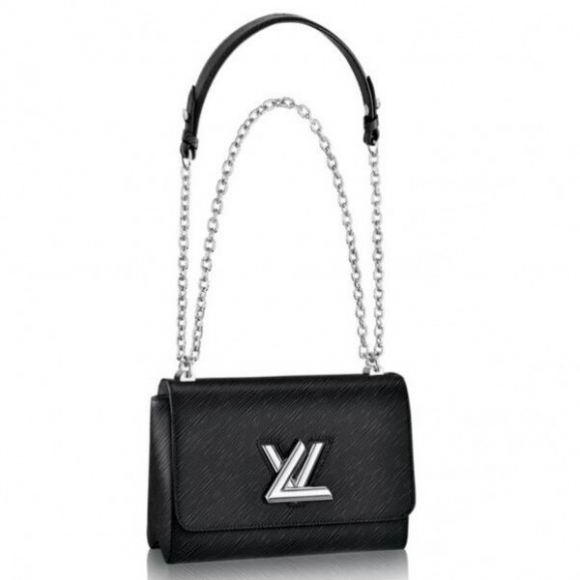 Louis Vuitton Twist MM Bag In Black Epi Leather M50282 bag