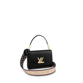 Louis Vuitton Twist MM Bag in Epi Leather M57050 Black bag