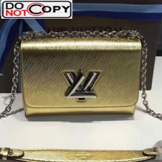 Louis Vuitton Twist MM Chain Bag in Metallic Epi Leather M50280 Gold bag