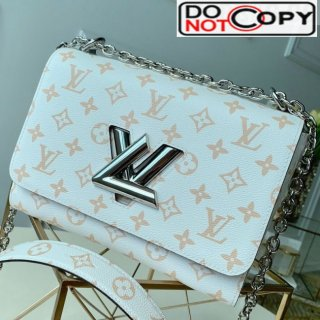 Louis Vuitton Twist MM in Monogram Leather M50282 White bag