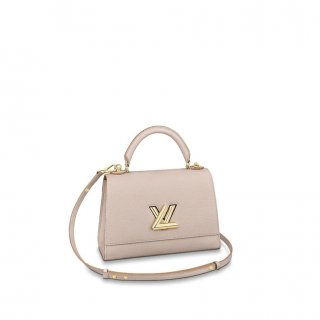 Louis Vuitton Twist One Handle Bag MM in Nude Taurillon Leather M57092 bag