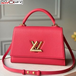 Louis Vuitton Twist One Handle Bag MM in Pink Taurillon Leather M57090 bag