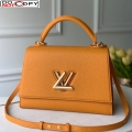 Louis Vuitton Twist One Handle Bag MM in Yellow Taurillon Leather M57090 bag