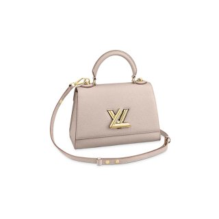 Louis Vuitton Twist One Handle Bag PM in Nude Taurillon Leather M57214 bag