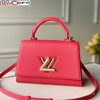 Louis Vuitton Twist One Handle Bag PM in Pink Taurillon Leather M57096 bag