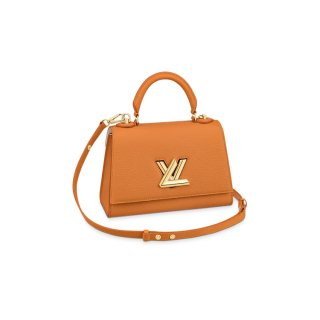 Louis Vuitton Twist One Handle Bag PM in Saffron Yellow Taurillon Leather M57136 bag