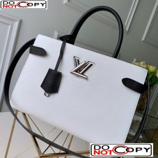 Louis Vuitton Twist Tote Bag in Epi Leather M53396 White bag