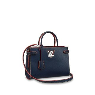 Louis Vuitton Twist Tote Bag in Epi Leather M54980 Navy Blue bag