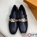Louis Vuitton Upper Case Flat Loafer 1A4XE7 Black Leather