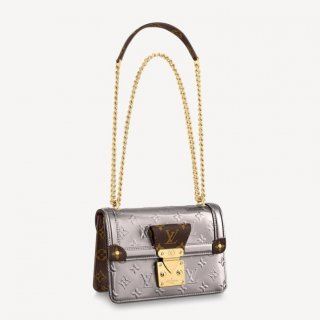 Louis Vuitton V Wynwood Chain Bag in Monogram Silver Metallic Leather M90566 Bag