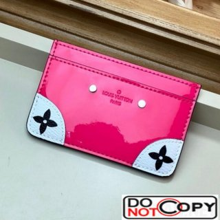 Louis Vuitton Venice Card Holder in Patent Leather M67639 Hot Pink bag