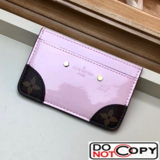 Louis Vuitton Venice Card Holder in Patent Leather M67639 Light Pink bag