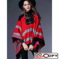 Louis Vuitton Wool and Cashmere Poncho Red F W
