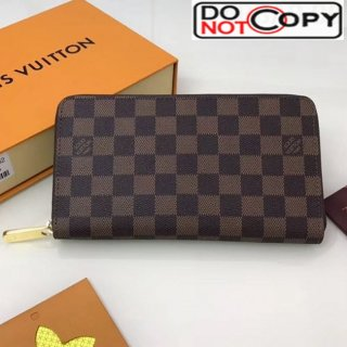 Louis Vuitton Zippy Organizer Wallet N63502 Damier Ebene Canvas