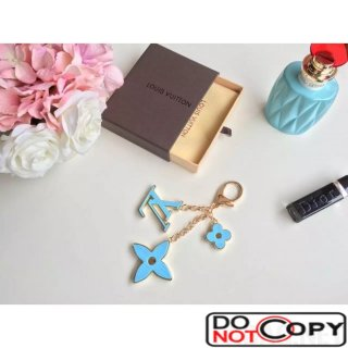 Louis Vuttion Fleur DEPI Bag Charm Aqua Blue