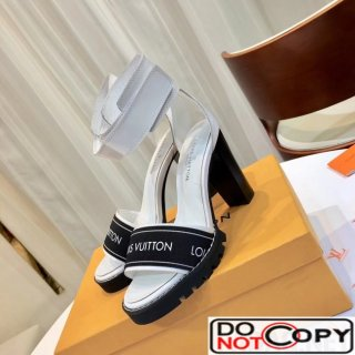 Lousi Vuitton Star Trail Sandal in Patent Elastic 1A3Y22 White