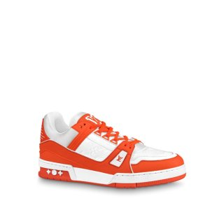 Louis Vuitton LV Trainer Sneakers 1A812O White/Orange (For Women and Men)