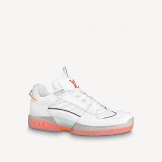 Louis Vuitton Men's A View Sneakers White/Orange