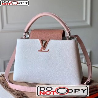 Louis Vuitton Capucines Mini Bag M56409 White/Pink bag