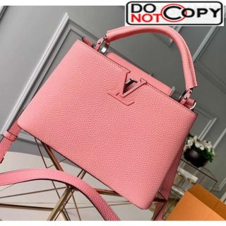 Louis Vuitton Taurillon Leather Capucines BB/PM Top Handle Bag M94586 Pink Bag