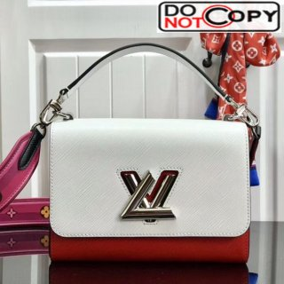 Louis Vuitton Twist MM Epi Leather Top Handle Bag M50282 White/Red bag