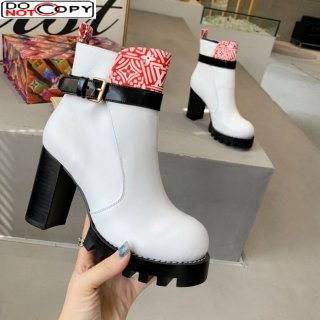 Louis Vuitton Star Trail Crafty and Calfskin Short Boots White/Red