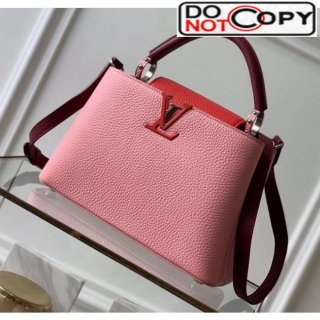 Louis Vuitton Taurillon Leather Capucines BB/PM Top Handle Bag M536964 Pink/Red Bag