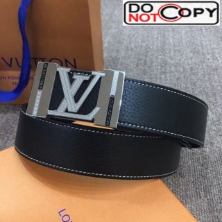 Louis Vuitton Reversible Calfskin Belt 40mm with Metal LV Buckle Black/Silver