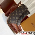 Louis Vuitton Monogram Canvas Studded Leather Ankle Boot Brown