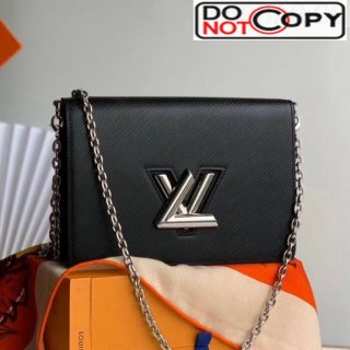 Louis Vuitton Twist Epi Leather Belt Bag/Wallet on Chain WOC M68560 Black bag