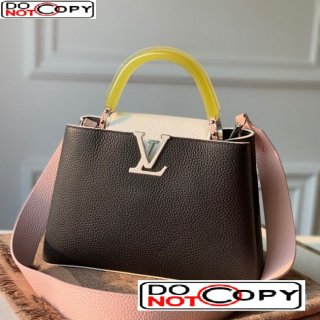 Louis Vuitton Capucines BB Bag with Translucent Top Handle M56300 Black/Yellow bag