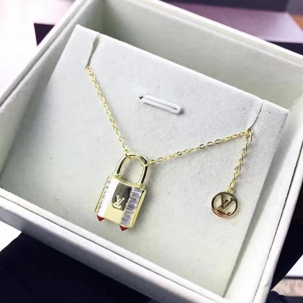 Louis Vuitton Lock Me Strass Supple Necklace M62802