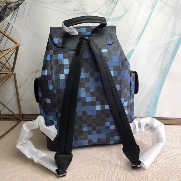 Louis Vuitton Christopher Backpack Damier Graphite Pixel N40063 bag