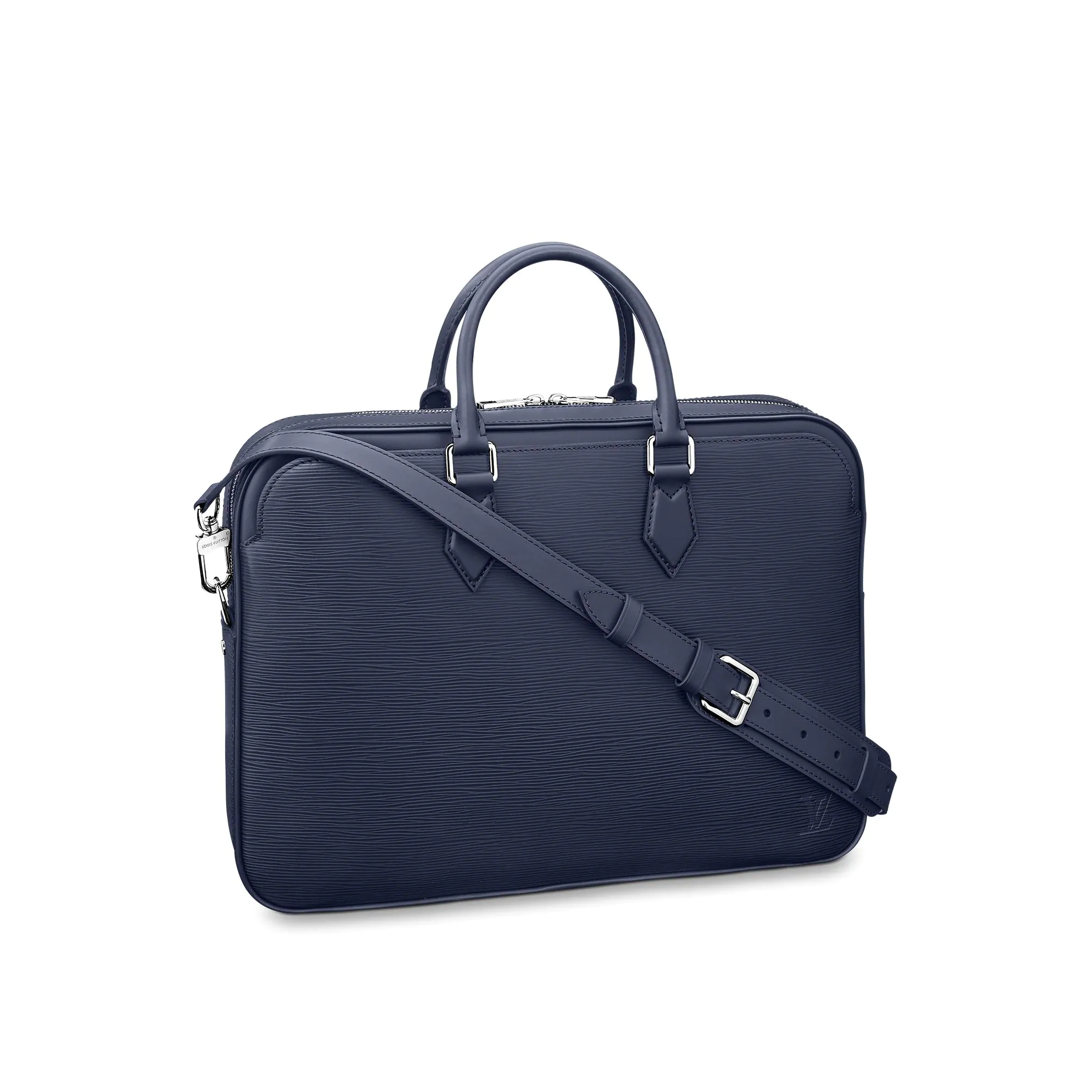 Louis Vuitton Men Dandy Briefcase Top Handle Bag in Epi Leather M54405 Blue bag