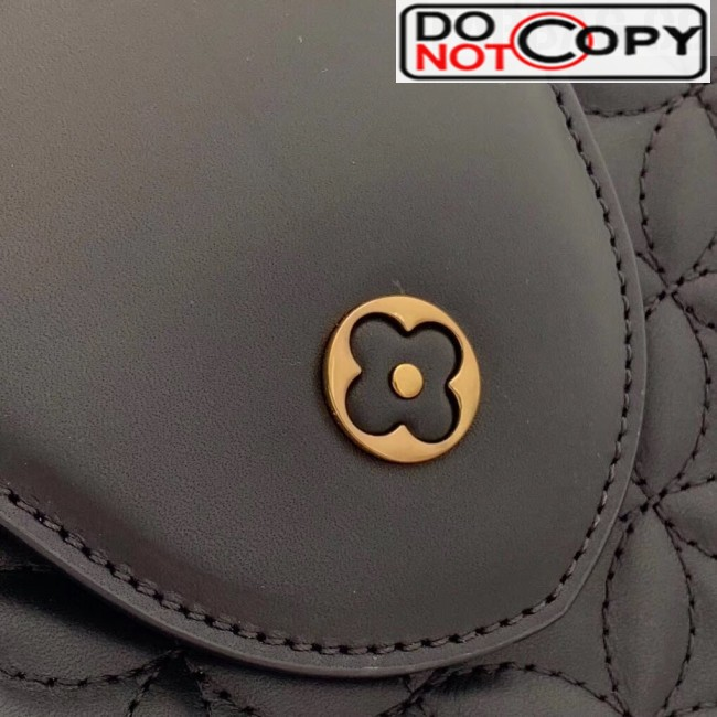 Louis Vuitton Capucines PM Monogram Flower Top Handle Bag M55366 Black bag