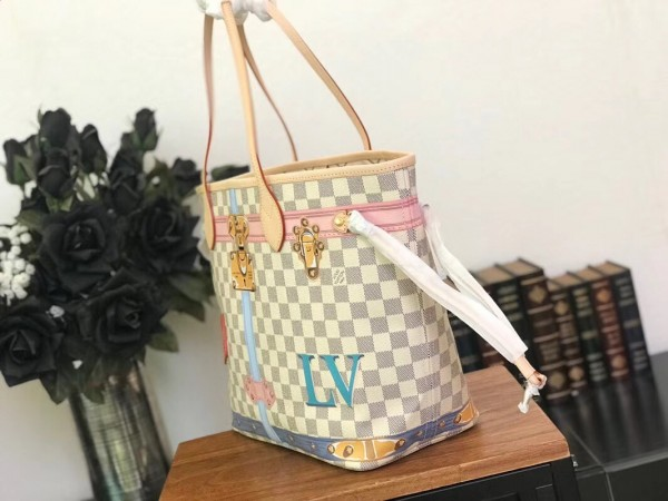 Louis Vuitton Neverfull MM Summer Trunk Damier Azur N41065 bag