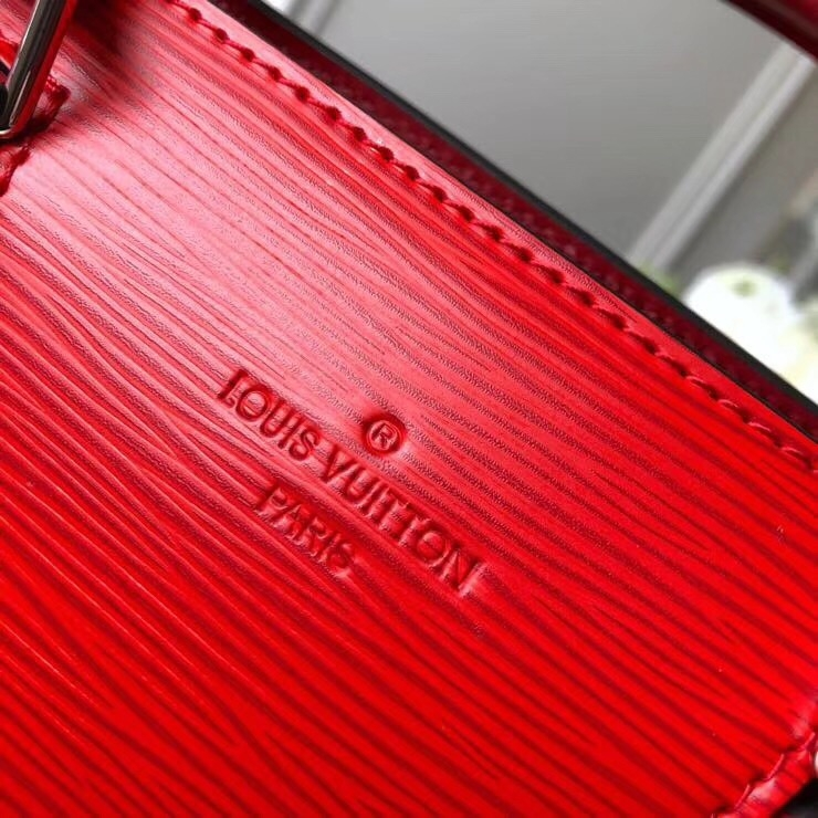 Louis Vuitton Sac Tricot Bag Epi Leather Red M52805   bag