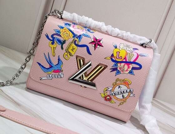 Louis Vuitton Tattoo Epi Leather Twist MM Bag M53561 Rose Ballerine bag