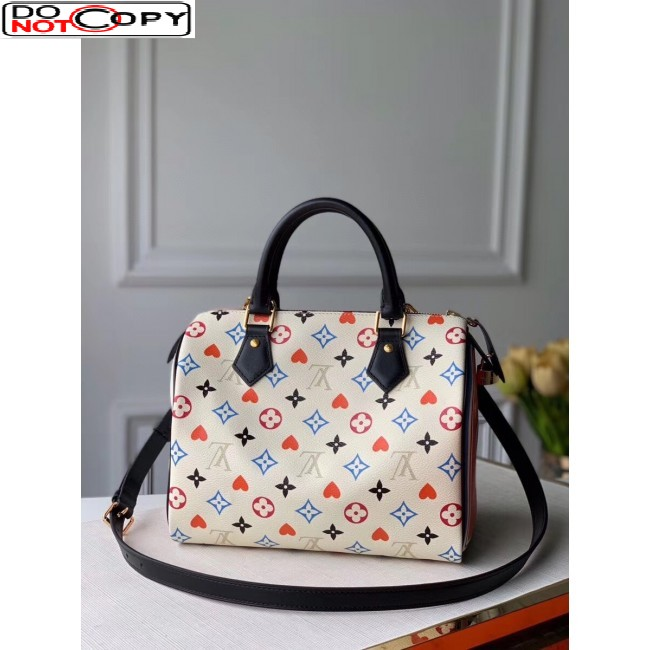 Louis Vuitton Game On Speedy Bandouliere 25 in White Monogram Canvas M57466 bag