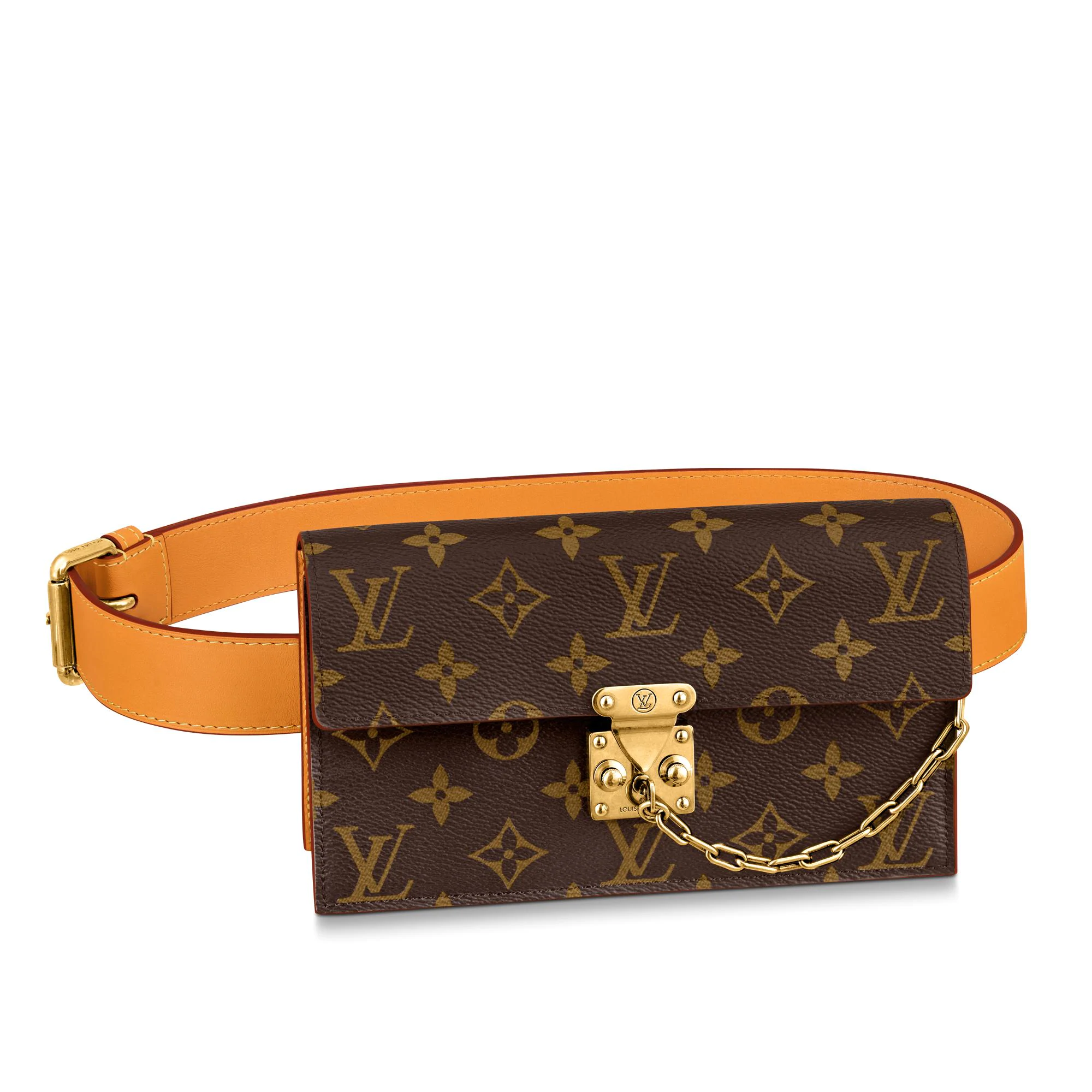 Louis Vuitton S Lock Belt Pouch MM Bag Monogram Canvas M68549 bag